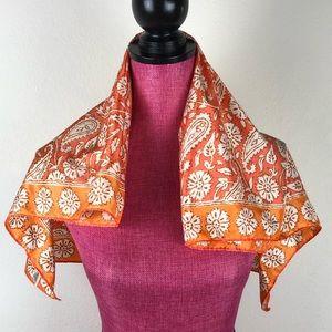 Vintage Scarves by Vera Scarf Neuman Orange 70s